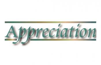 Word of Appreciation